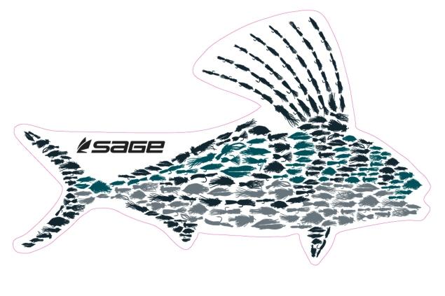 Sage Roosterfish sticker